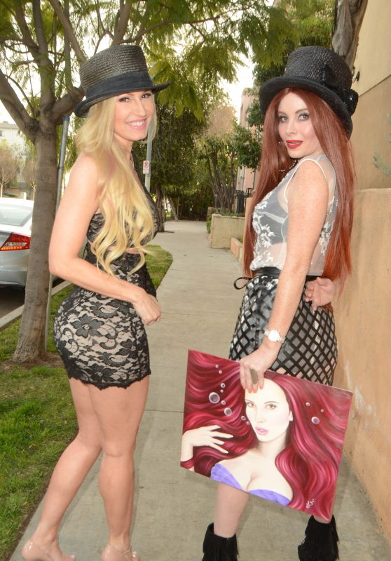 Phoebe Price and Ana Braga - Celebrate National Hat Day in Studio City 1/15/2016
