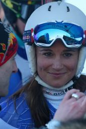 Pippa Middleton - Skiing at Inferno Muerren in the Schiltron in Switzerland, January 2016