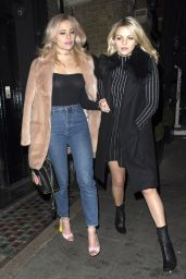 Pixie Lott Night Out Style - Leaving the Toy Room Nightclub in London 1/22/2016