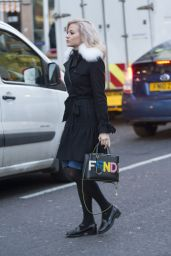 Pixie Lott Winter Style - Out in Central London 1/19/2016