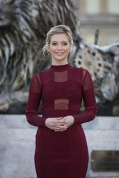 Rachel Riley - Unveils Fifth Lion Statue at Trafalgar Square in London 1/28/2016