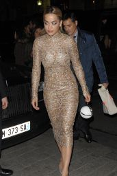 Rita Ora - Arriving at the Ralph & Russo After Party in Paris 1/25/2016