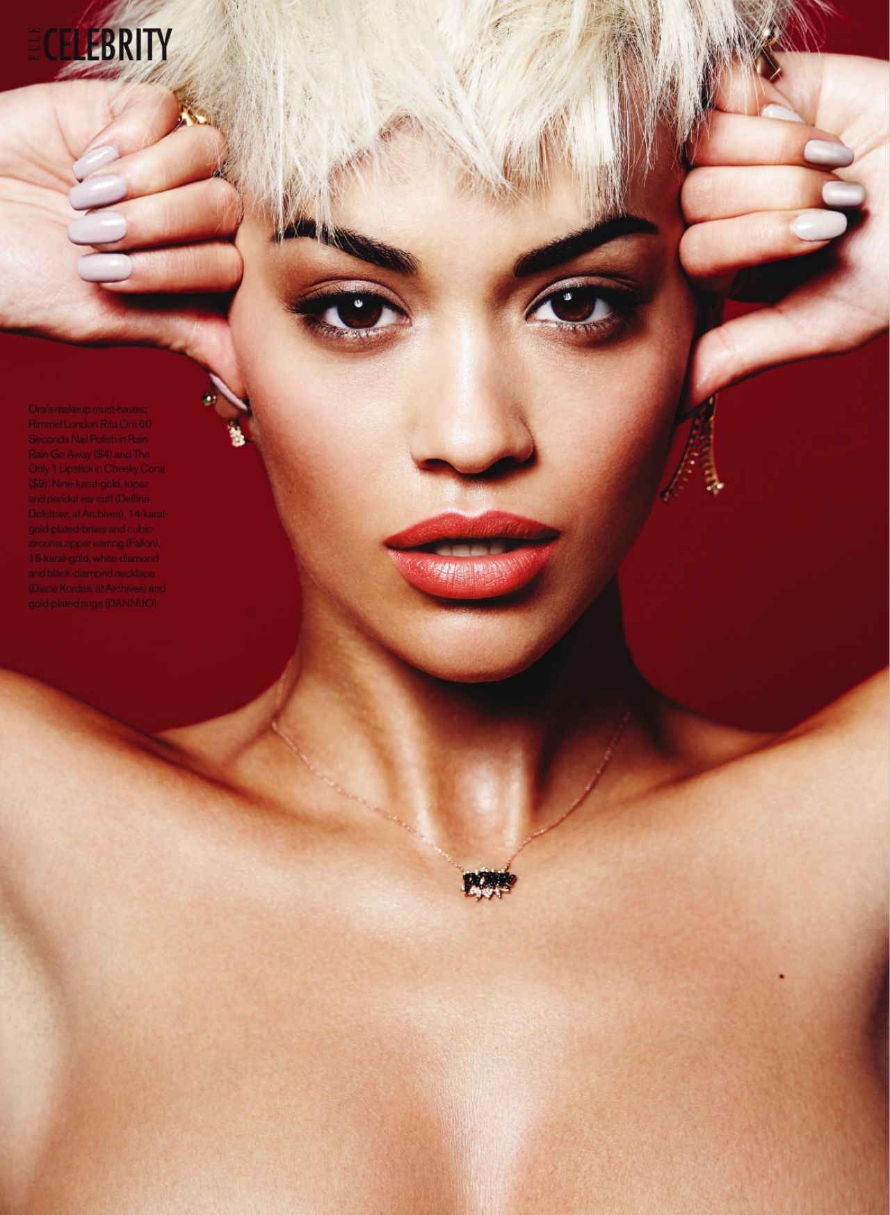 Rita Ora Elle Magazine Canada February 2016 Issue