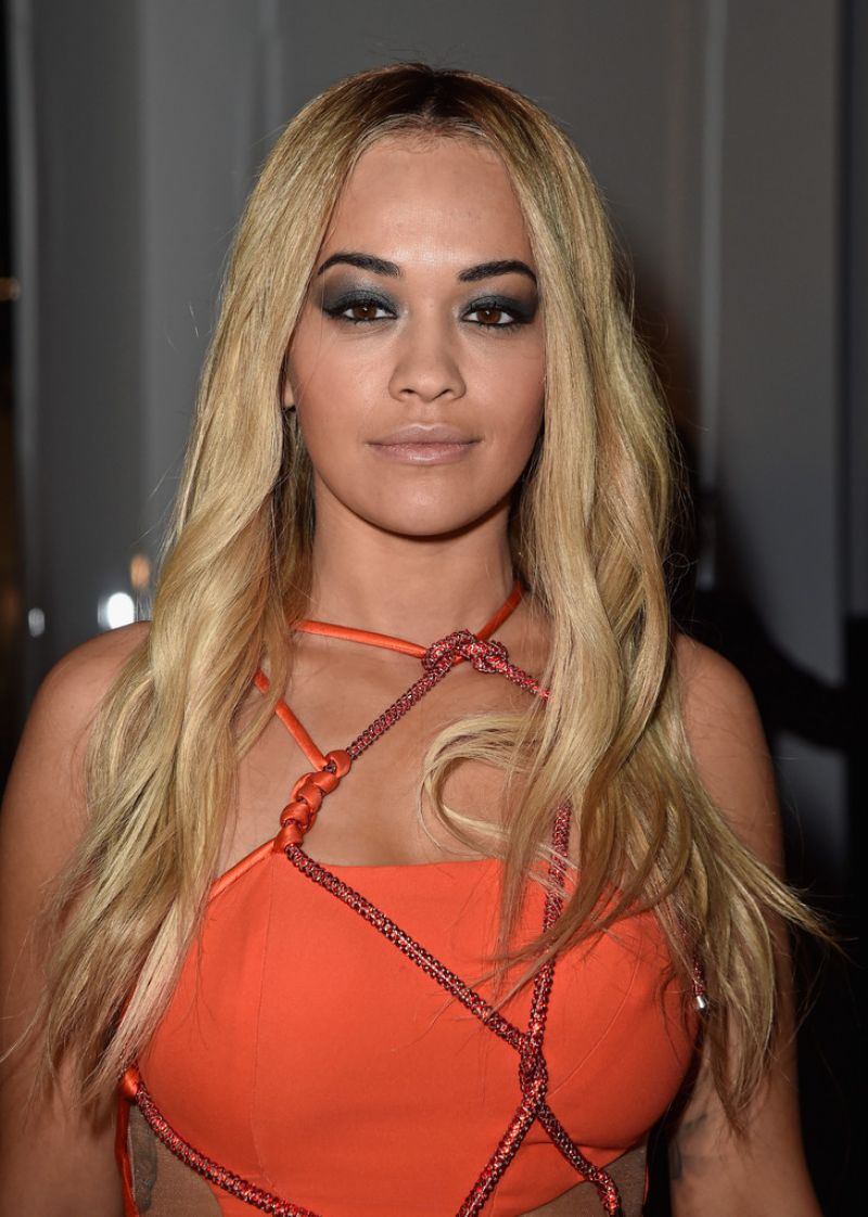 Rita Ora Hot In Mini Dress - Versace Spring Summer 2016 -4771