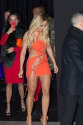 Rita Ora Hot in Mini Dress - Versace Spring Summer 2016 Show - Paris Fashion Week