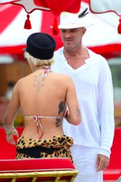 Rita Ora in Bikini Top - Miami 1/3/2016