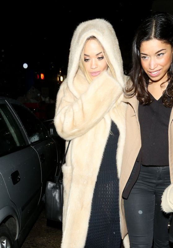 Rita Ora Night Out Style - Leaving Tape Nightclub in London 1/30/2016
