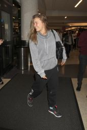 Ronda Rousey at LAX Airport in Los Angeles, January 2016