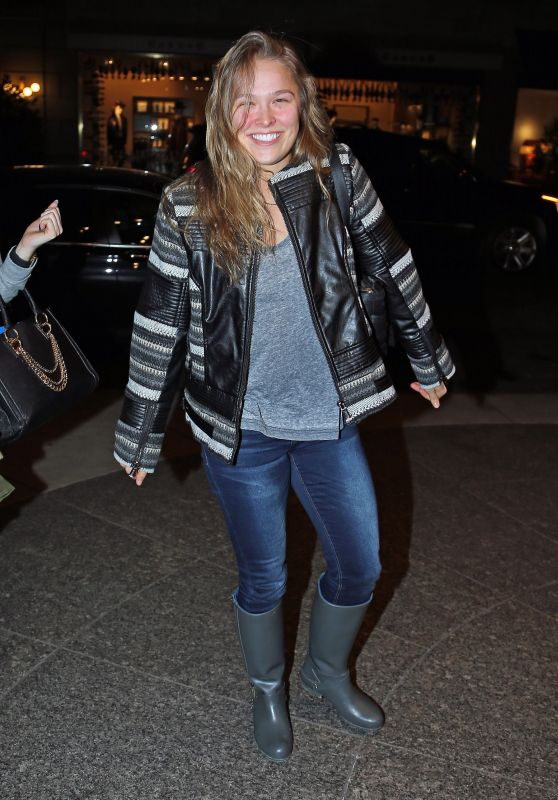 Ronda Rousey - Returns Back to Her Hotel After Rehearsal for Saturday Night Live in New York City, January 2016