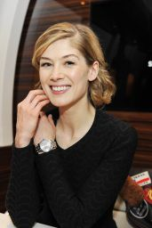 Rosamund Pike - IWC Booth at the Salon International de la Haute Horlogerie (SIHH) 2016