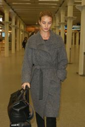 Rosie Huntington Whiteley - Arriving in London at Kings Cross St Pancras International 1/28/2016