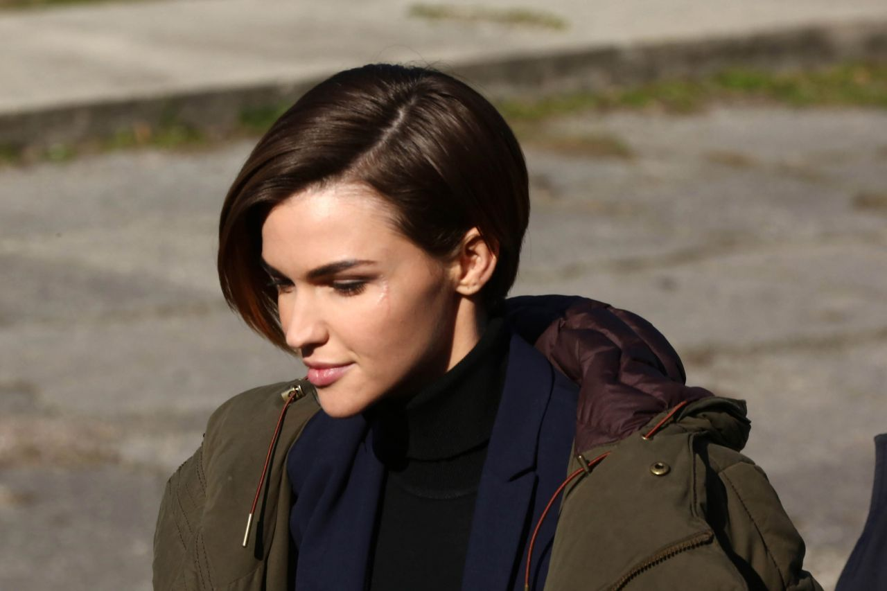 Ruby Rose Filming John Wick 2 In Rome January 2016