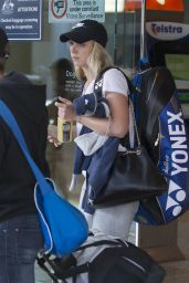 Sabine Lisicki - Fly Into Sydney Ahead of Apia International, January 2016
