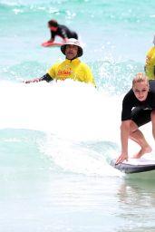 Sabine Lisicki Go Surfing in Australia 1/4/2016