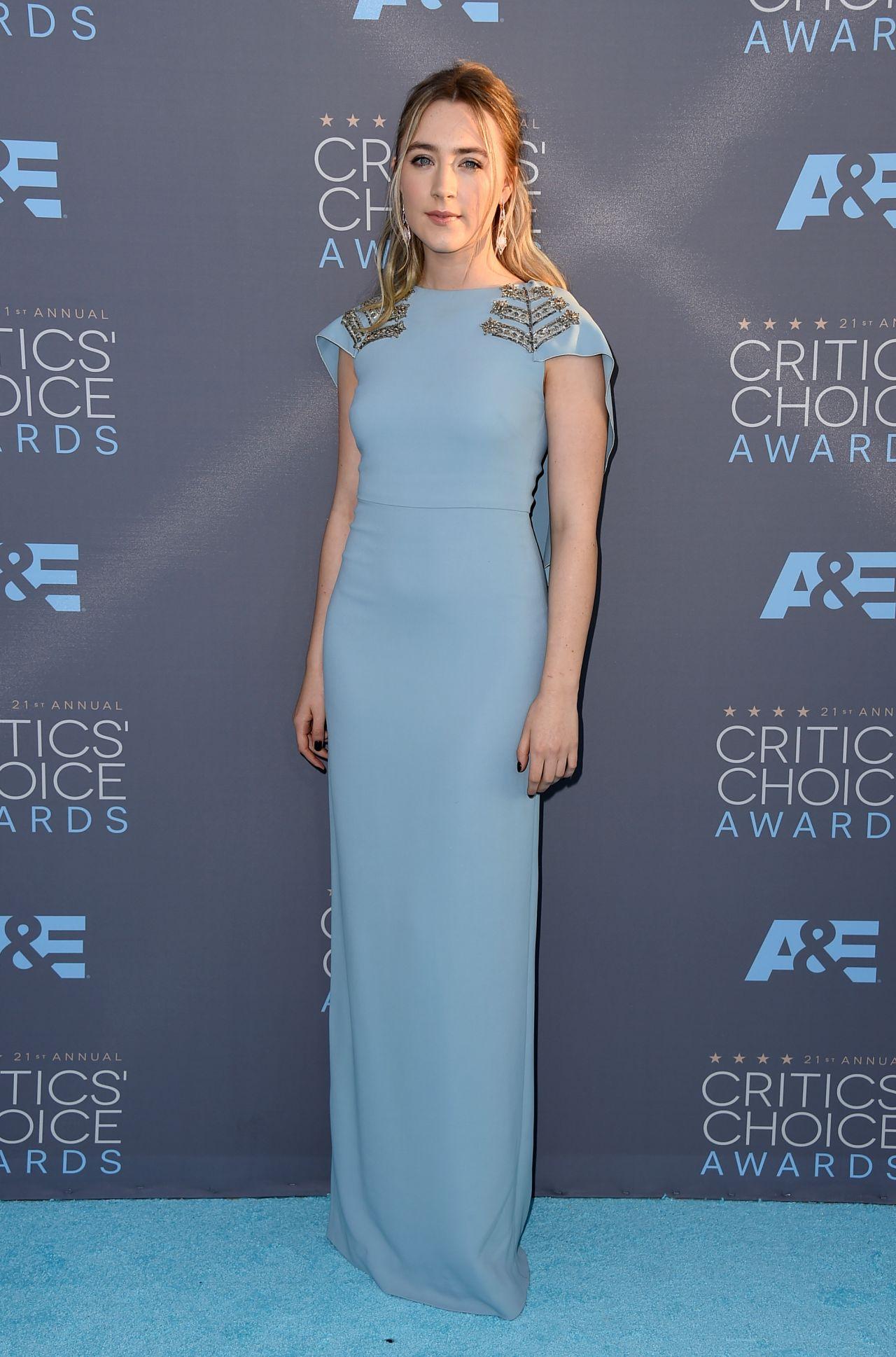 Saoirse Ronan 2016 Critics Choice Awards In Santa Monica