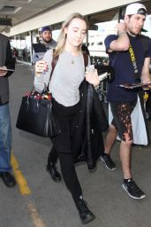 Saoirse Ronan at LAX Airport, January 2016