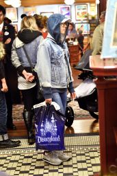 Scarlett Johansson at Disneyland in Anaheim, January 2016