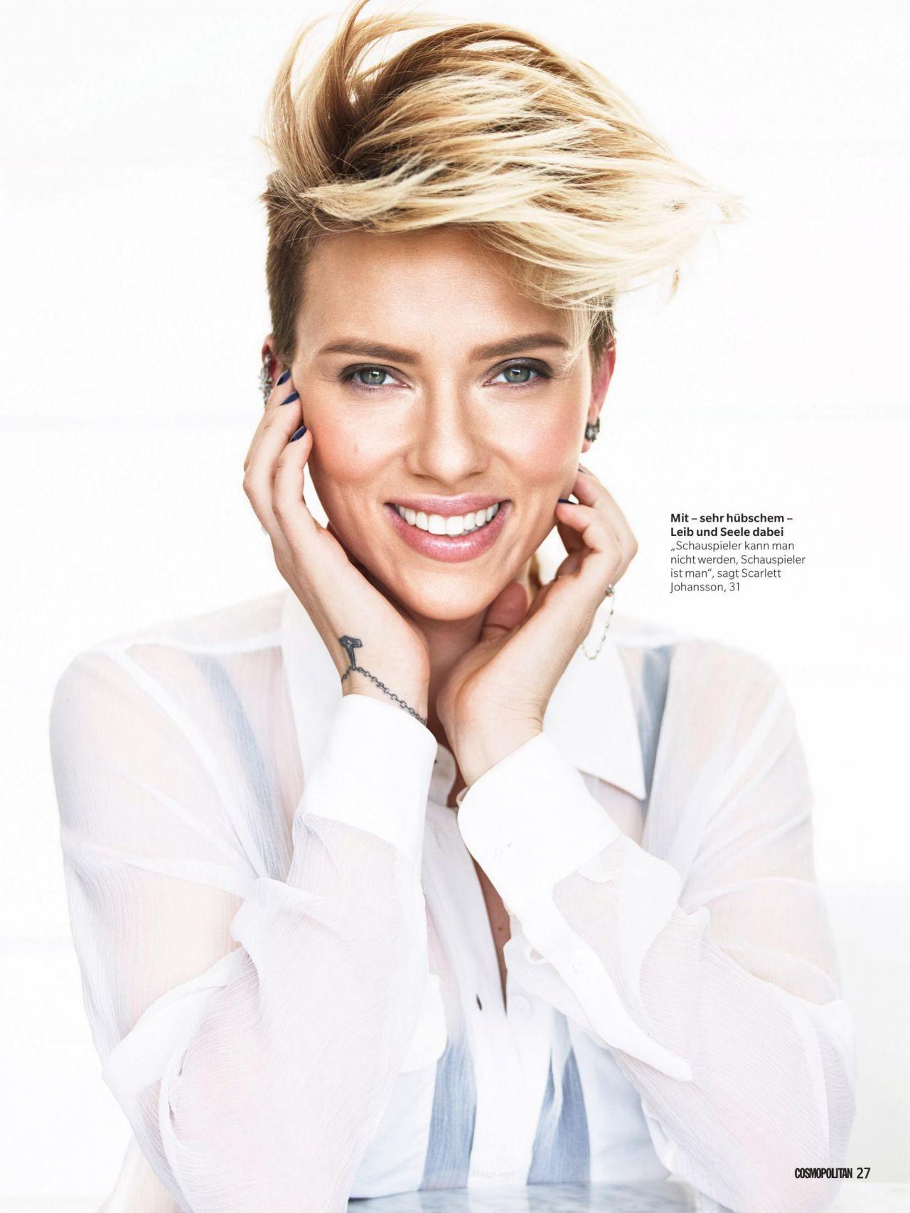 Scarlett Johansson Cosmopolitan Magazine Germany Februay