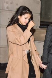 Selena Gomez and Megan Puleri Night Out Style -  Go Out for Dinner in NYC, January 2016