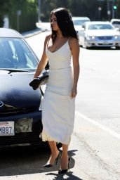 Selena Gomez in White Dress - Jennifer Klein