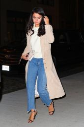 Selena Gomez Night Out Style - at Nobu restaurant in New York City 1/21/2016