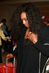 Serena Williams - Arriving at LAX Airport - December 2015