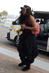 Serena Williams - Departs Sydney Domestic Airport - January 2016