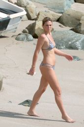 Serinda Swan in a Bikini at a Beach in St Barts 01/11/2016