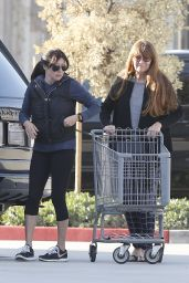 Shannen Doherty in Leggings - Shopping in Malibu, January 2016