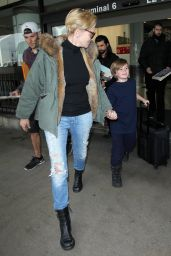Sharon Stone at LAX AIrport, December 2015