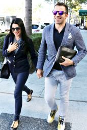 Sonia Amoruso With Husband Alessandro Del Piero in Los Angeles, January 2016