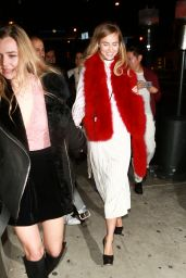 Suki and Immy Waterhouse at BOA Steakhouse in West Hollywood, January 2016