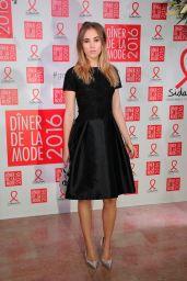 Suki Waterhouse – Sidaction Gala Dinner 2016 in Paris