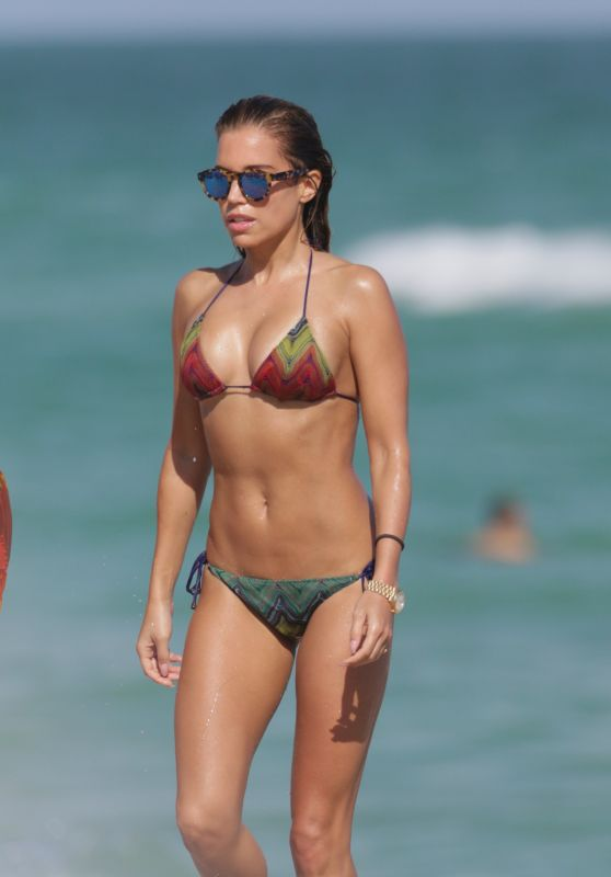 Sylvie Meis Hot in Bikini - Beach in Miami, December 2015
