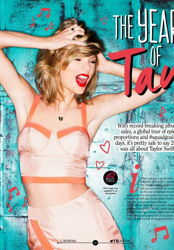 Taylor Swift - Girlfriend Magazine Australia January 2016 Issue