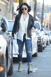 Vanessa Hudgens Casual Style - Leaving Sara