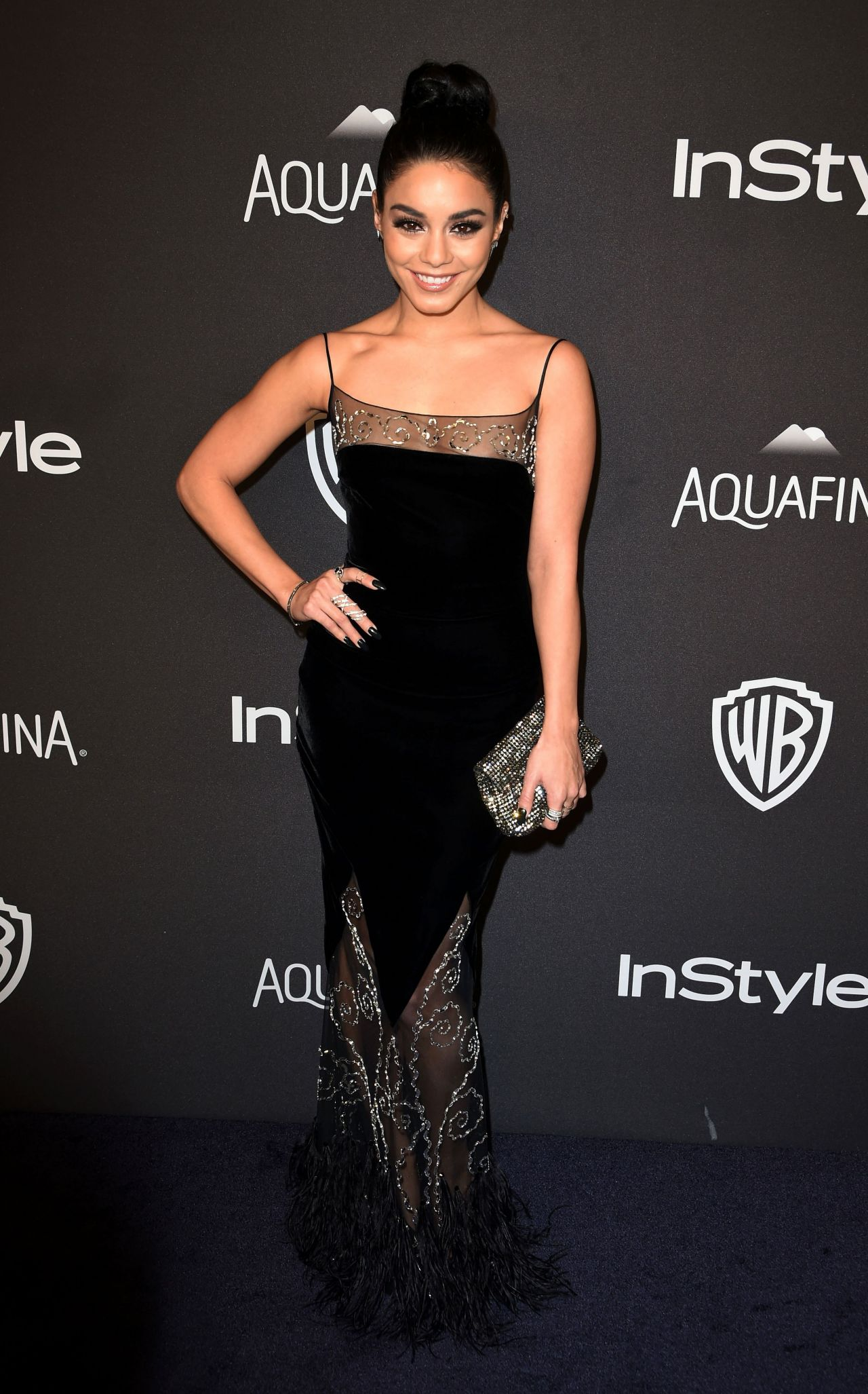 Vanessa Hudgens Instyle And Warner Bros 2016 Golden Globe Awards Post Party In Beverly Hills