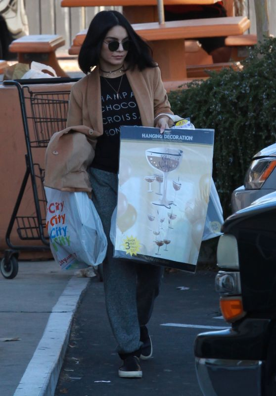 Vanessa Hudgens - Out in Los Angeles, 12/31/2015