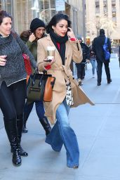 Vanessa Hudgens Street Style - Out in NYC 1/19/2016