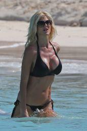 Victoria Silvstedt in a Bikini - Beach in St. Barts 1/3/2016