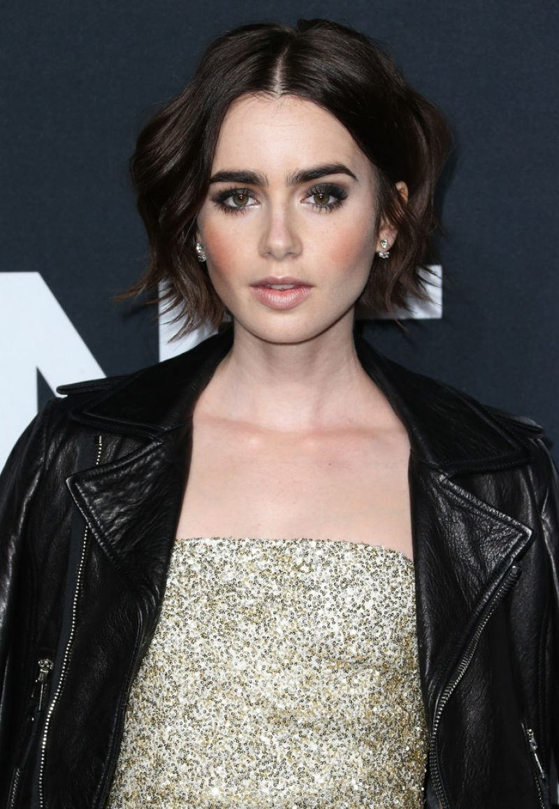 Lily Collins Saint Laurent Show At The Palladium In Los