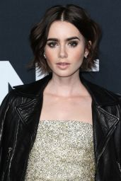 Lily Collins – Saint Laurent Show at The Palladium in Los Angeles 2/10/2016