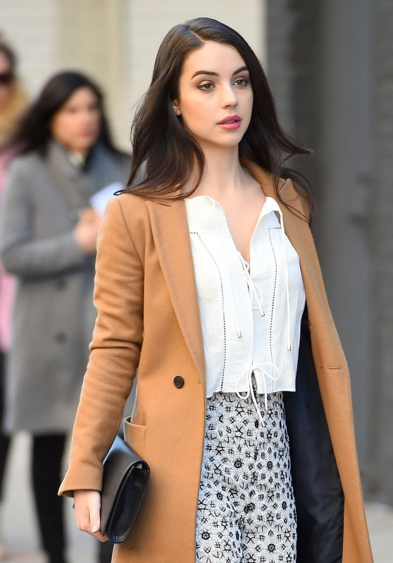Adelaide Kane Casual Style - Out in New York City 2/12/2016