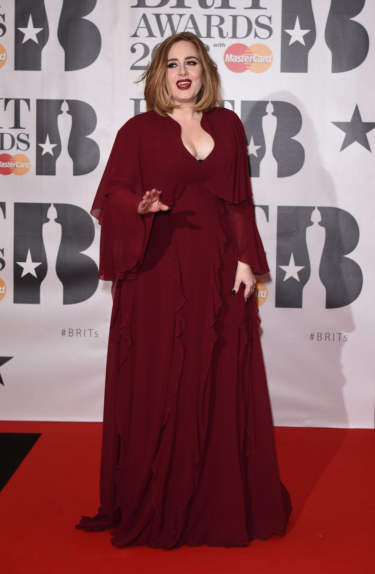 ADELE at Brit Awards 2016 in London 02/24/2016 - HawtCelebs