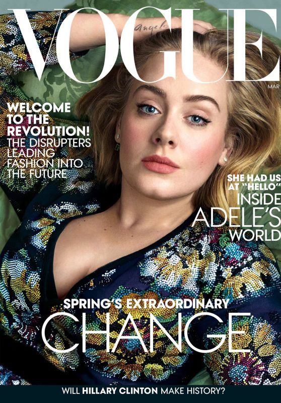 Adele - Vogue Mgazine March 2016 Cover and Photos