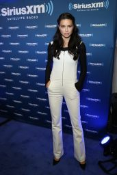 Adriana Lima – SiriusXM Set at Super Bowl 50 Radio Row in San Francisco, CA 2/5/2016