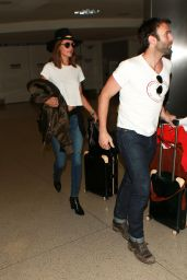 Alessandra Ambrosio at LAX Airport in Los Angeles, February 2016