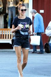 Alessandra Ambrosio Leggy in Shorts - Out in Brentwood, CA 2/16/2016