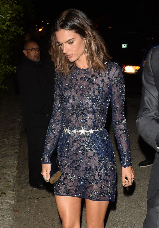 Alessandra Ambrosio Night Out Style - Leaves a Pre Oscar Talent Agency Party in Los Angeles 2/26/2016