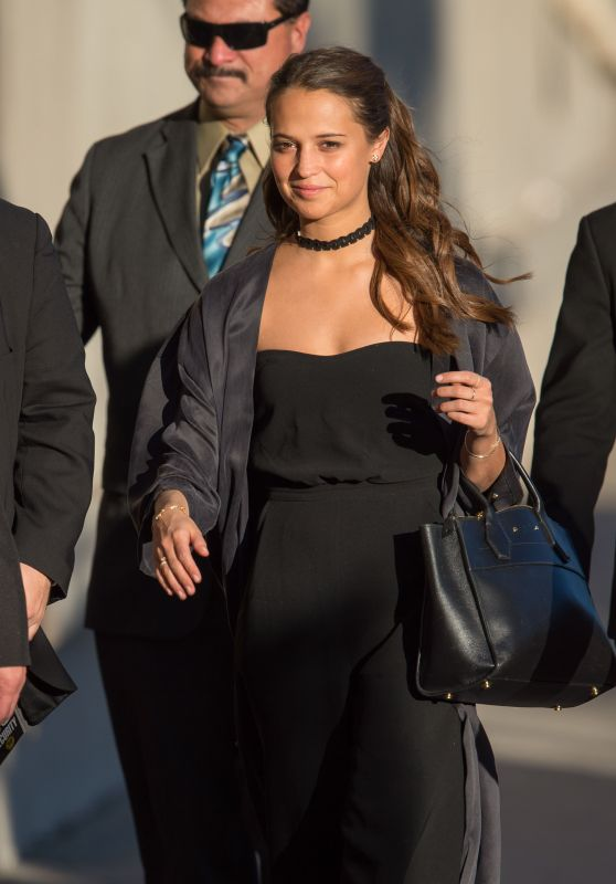 Alicia Vikander Arriving to Appear on Jimmy Kimmel Live in Los Angeles 2/9/2016